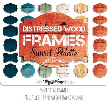 Wooden Digital Frame, distressed wood texture, modern wooden digital signage