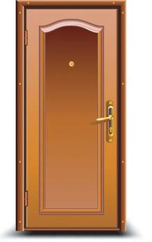 Wooden Door with Peephole2