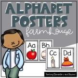 Wooden Farmhouse Alphabet Posters