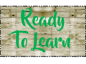 Wooden Farmhouse Classroom Decor Clip Chart