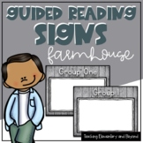 Wooden Farmhouse Guided Reading Group Posters