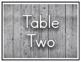 Wooden Farmhouse Table Signs