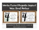 Wooden Framed Magnolia Inspired Levels of Understanding Posters