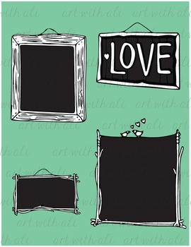 Wooden Frames and Chalkboards