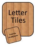 """""""Wooden"""" Letter Tiles"""