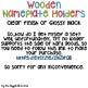 Wooden Nameplate Holders