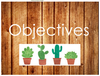 Wooden Objectives Sign