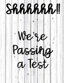 Wooden Passing Test Sign