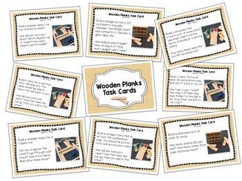 Wooden Planks - STEM / STEAM Task Cards for Makerspaces