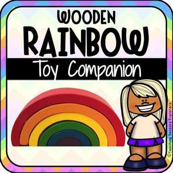 Wooden Rainbow Toy Companion for Early Intervention (Autism)