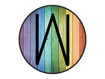 Wooden Rainbow Welcome Sign