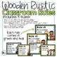 Wooden Rustic Classroom Decor Green and Teal Classroom Rules