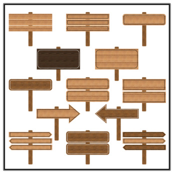 Wooden Sign Clipart