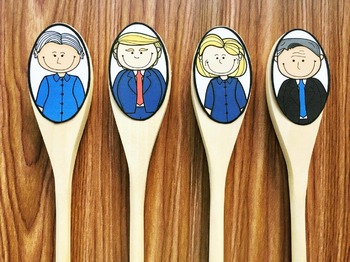 Wooden Spoon Puppets - Presidential Candidates 2016 (FREE)