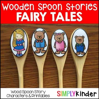 Wooden Spoon Puppets - Three Little Pigs, Little Red, Bill
