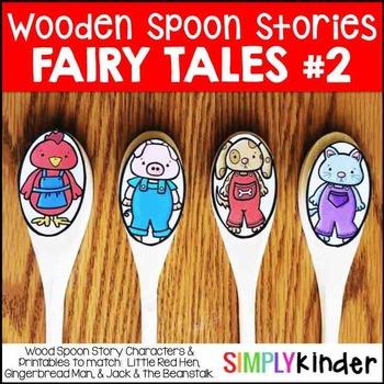 Wooden Spoon Stories 2 - Little Red Hen, Gingerbread Man,