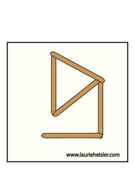 Wooden Stick Match Manipulative Printable Cards