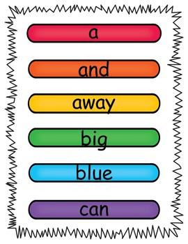 Sight Word Mats Using Wooden Sticks Pre-Primer Edition