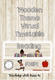 Wooden Theme Visual Timetable