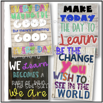 Wooden Themed Inspirational Quotes