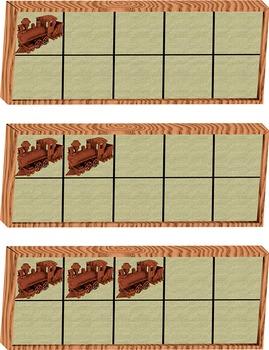 Wooden Train Ten Frames