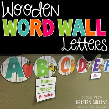 Wooden Word Wall Letters