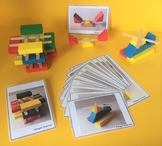Popsicle stick & wooden block building challenge cards for