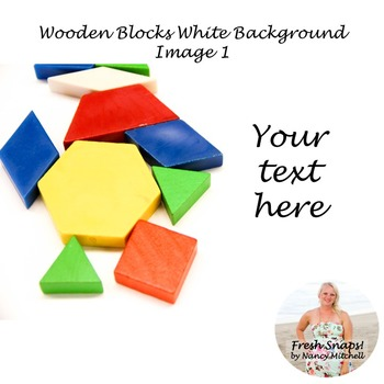 Wooden shapes on white background Image 1