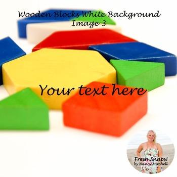Wooden shapes on white background Image 3
