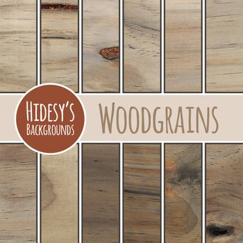 Woodgrain Backgrounds / Patterns / Digital Paper Clip Art for Commercial Use
