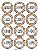 Woodgrain Clock Numbers