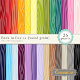 Wood Grain Digital Papers - rainbow digital papers - Lovel