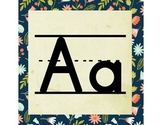 Woodland ABC Word Wall Letters