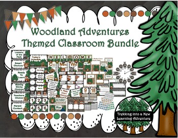 Woodland Adventures Classroom Decor Bundle