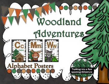 Woodland Adventures Alphabet Posters