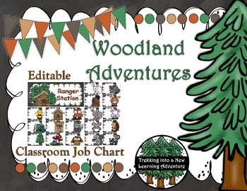 Woodland Adventures Classroom Job Chart