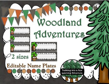 Woodland Adventures Desk Name Plates