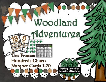 Woodland Adventures Number Posters,Hundred Charts and Ten Frames