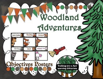 Woodland Adventures Objective Posters