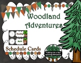 Woodland Adventures Schedule Card with Clocks