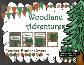 Woodland Adventures Teacher Binder Covers ONLY