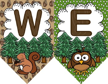 Woodland Adventures Welcome Banner
