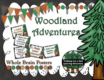 Woodland Adventures Whole Brain Rules Posters