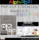 Woodland Alphabet Posters and Coloring Sheets | Bundle