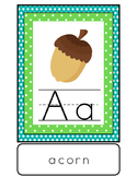 Woodland Alphabet Posters for Forest or Camping Classroom Theme
