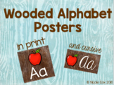 Woodland Alphabet Posters - print and cursive