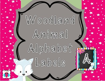 Woodland Animal Alphabet Labels