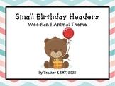 Woodland Animal Birthday Headers (small)
