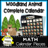 Woodland Animal Calendar Numbers or Math Station Number Cards