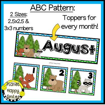 Woodland Animal Calendar Numbers or Math Station Number Cards